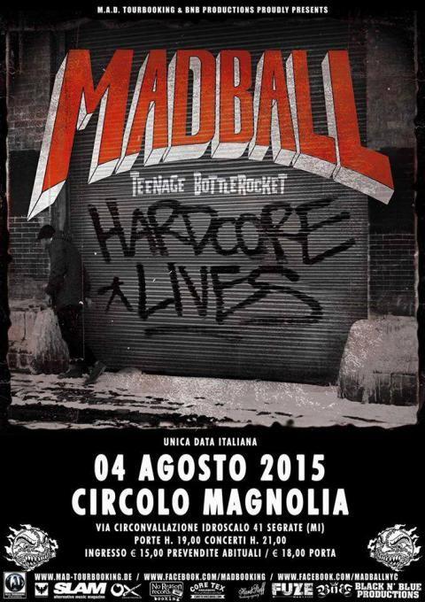 #Punk news: MADBALL e TEENAGE BOTTLEROCKET insieme a Milano a inizio agosto…
