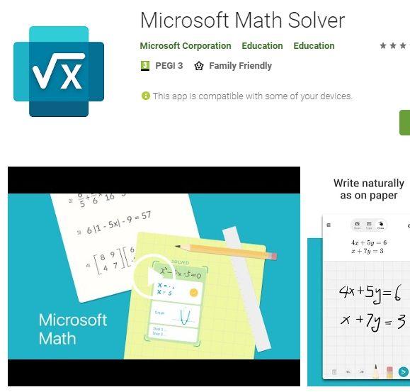 Microsoft Math Solver Ucretsiz Basarili Fotograf Veya El