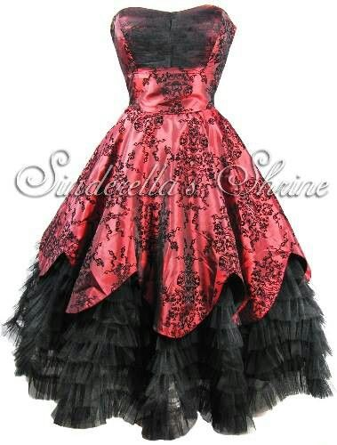 Gothic Black Amp Red Wedding Dress Plus Size Wedding