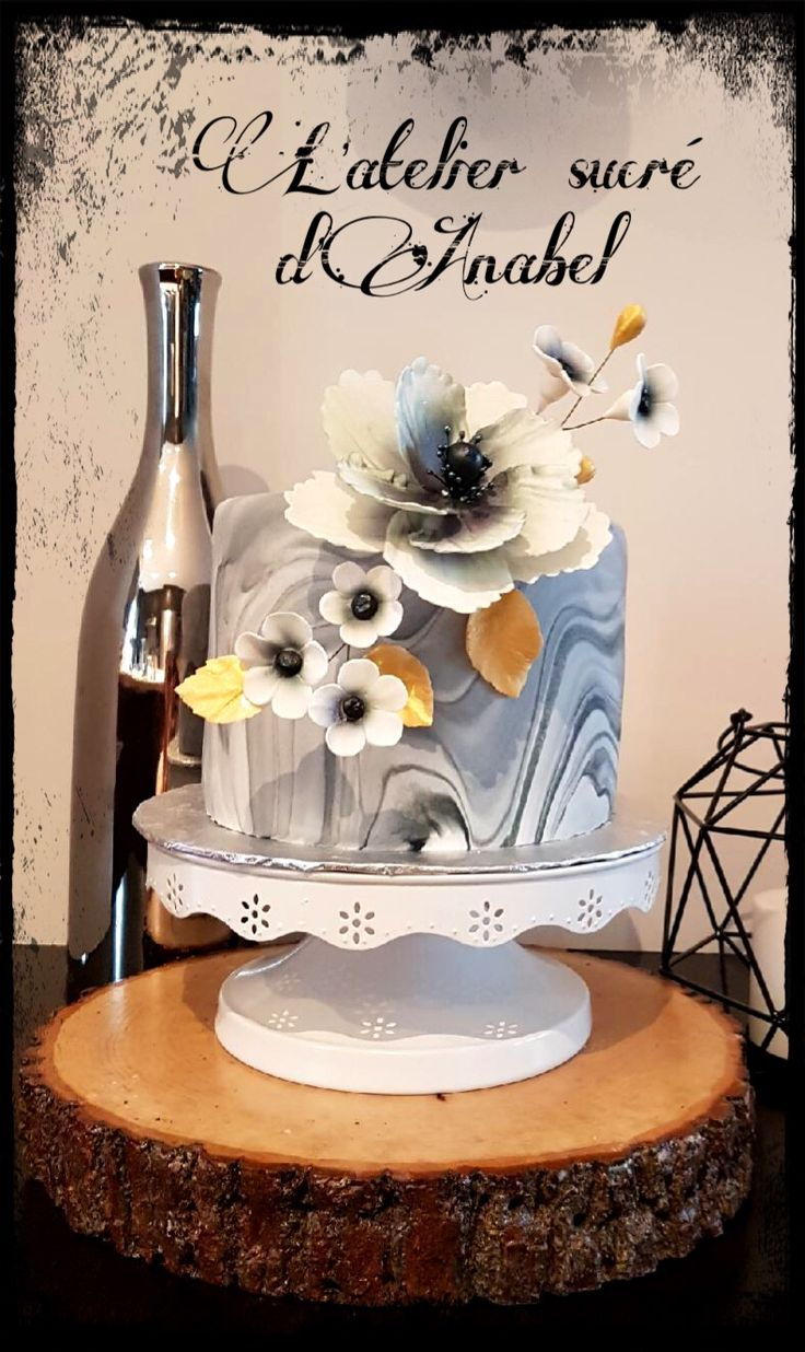Marbre effect cake