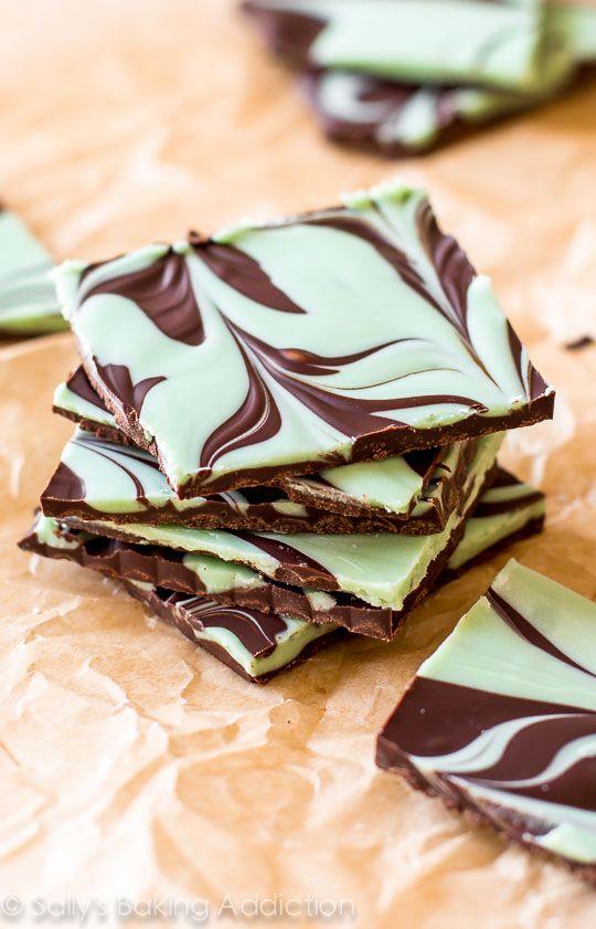 Mint Chocolate Swirl Bark.