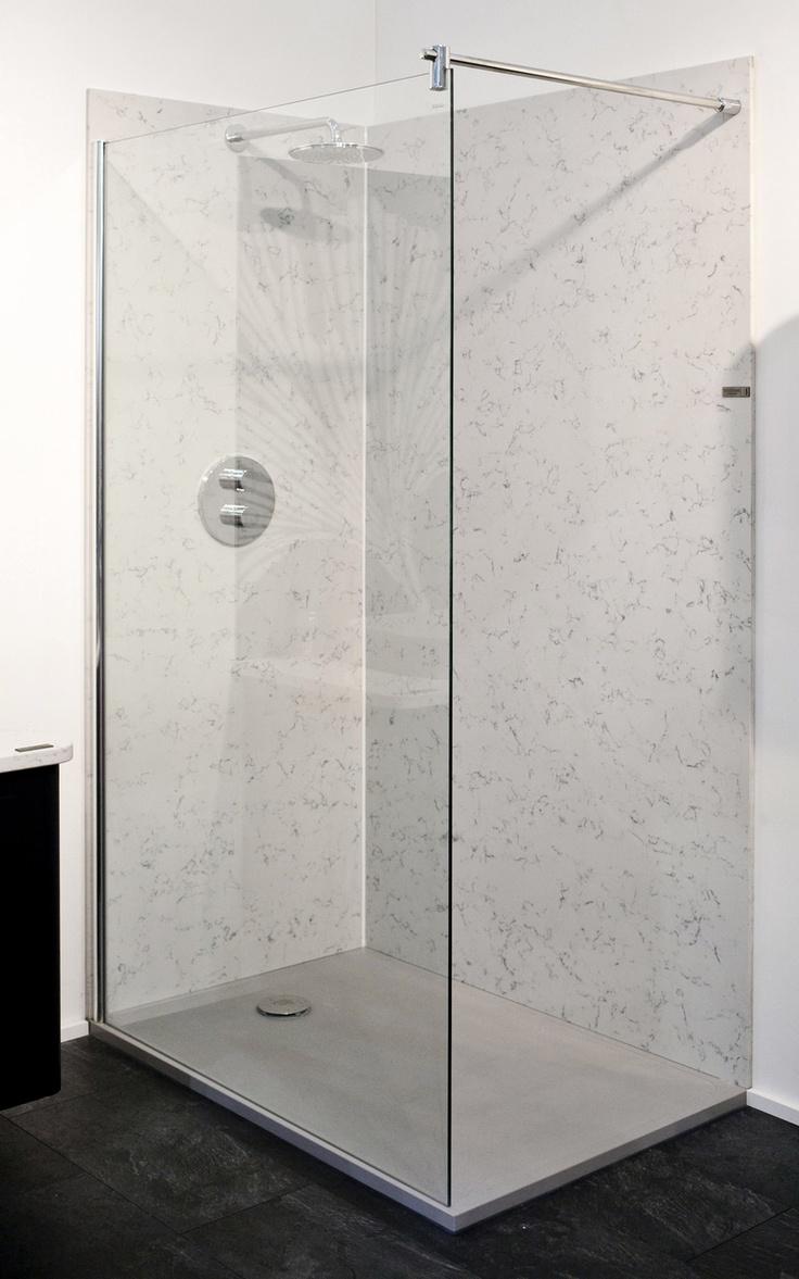 Quartz Cladding Shower And Low Profile Quartz Shower Tray