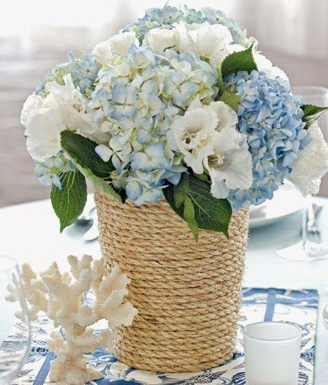 Nautical style rope vase: http://www.completely-coastal.com/2015/05/diy-coastal-beach-vases-summer-crafts.html #CoastalDecor
