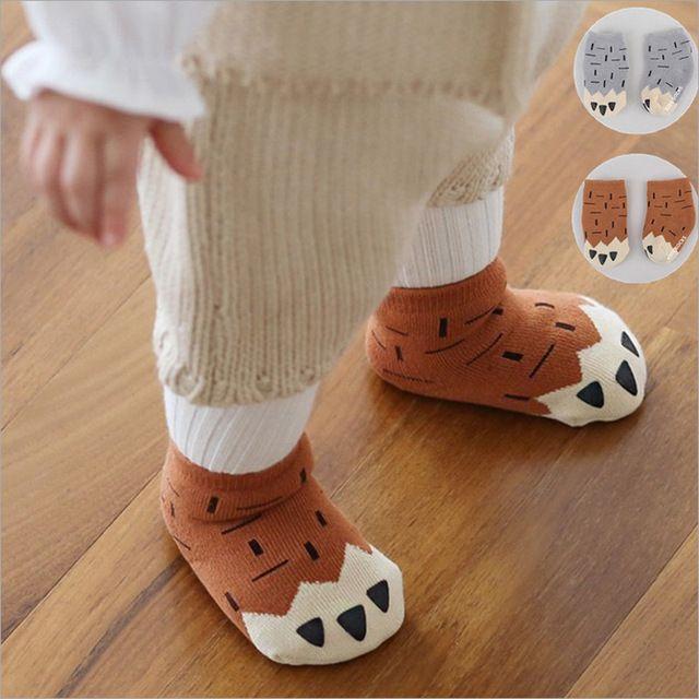Éponge chaud épais hiver bébé garçon chaussettes de Cute Bear Paws Design Cartoon anti dérapant chaussette pour enfants nouveau-nés infantile brand new