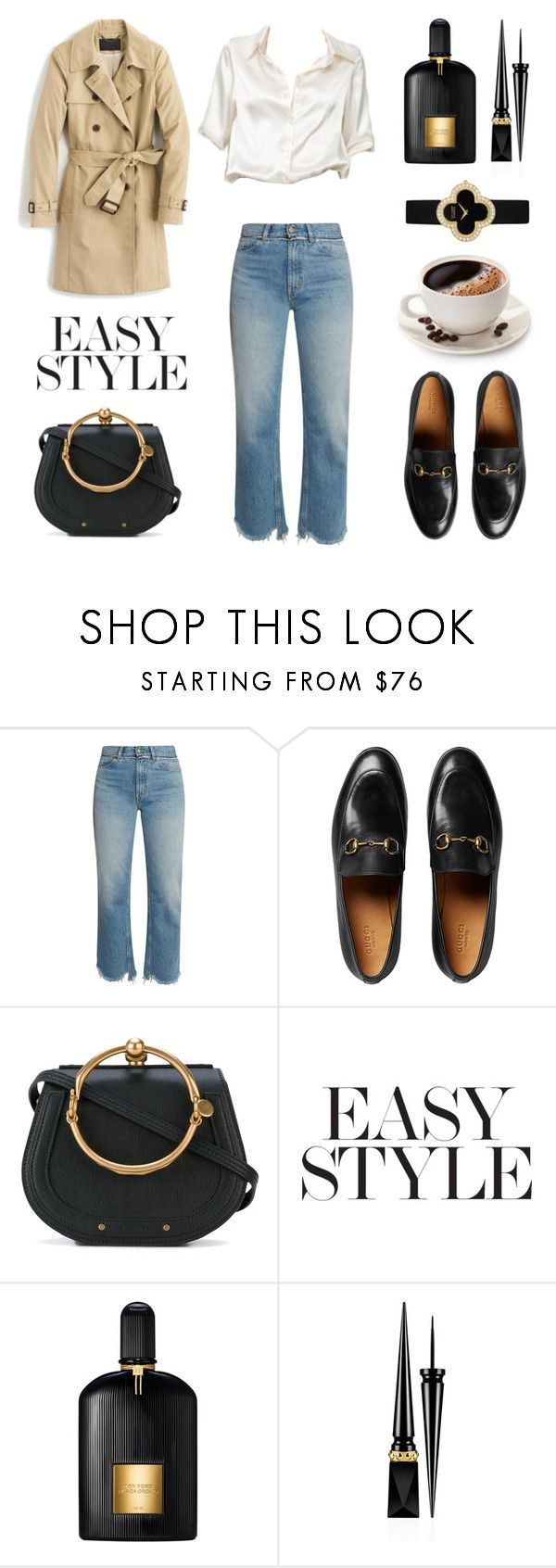 """Untitled #620"" by tenindvr ❤ liked on Polyvore featuring Golden Goose, Brandy Melville, Gucci, Chloé, Tom Ford, Christian Louboutin and Van Cleef & Arpels"