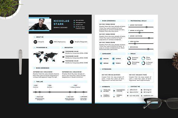 Resume/CV - Stark by 3Angle on @creativemarket
