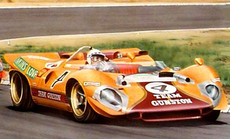 '68 Ferrari, John Love, Paul Hawkins in the Rand Daily Mail nine hour race, Kyalami