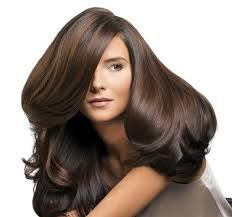 The best blow-dry's are on brunettes. The dark pigmentation of the hair helps reflect shine better. Hair's been given volume with short layers at the top and an turning hair inwards during a blow-dry.   http://bit.ly/1rFNH6z