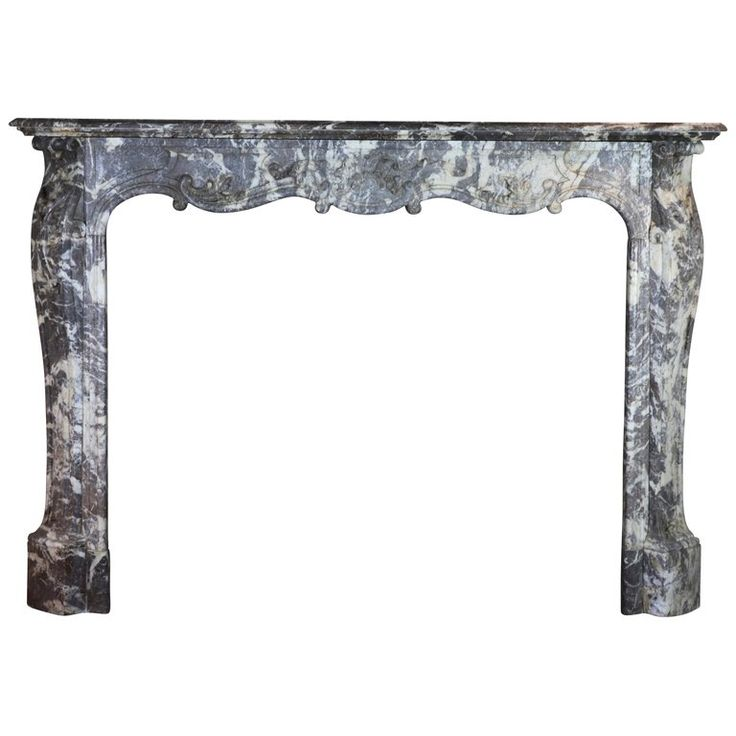 1stdibs Fireplace / Mantel – Fine European Grey Antique Surround Belgian Regency Marble