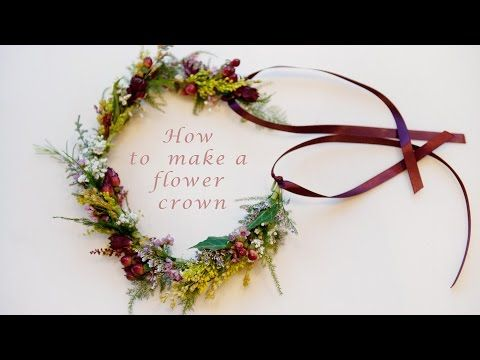 How to make a flower crown - YouTube