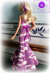 Ravelry: Fashion doll mermaid dress pattern by Maz Kwok