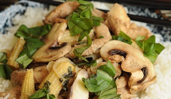 Pollo Oriental con Arroz Basmati - Platillo Gourmet Asiático. (Visita el link para obetener la receta completa)