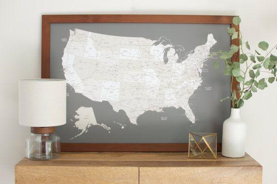 US Push Pin Travel Map  Push Pin Map  United States by Wayfaren