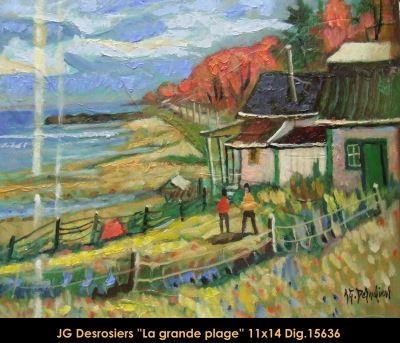 Original oill painting on canevas by Jean-Guy Desrosiers #jeanguydesrosiers #artist #canadianartist #quebecartist #art #fineart #figurativeart #originalpainting #oilpainting #house #summerscene #balcondart #multiart