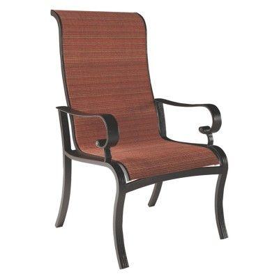 Fantastic Apple Town Sling Chair With 2 Cushion Burnt Orange Download Free Architecture Designs Momecebritishbridgeorg