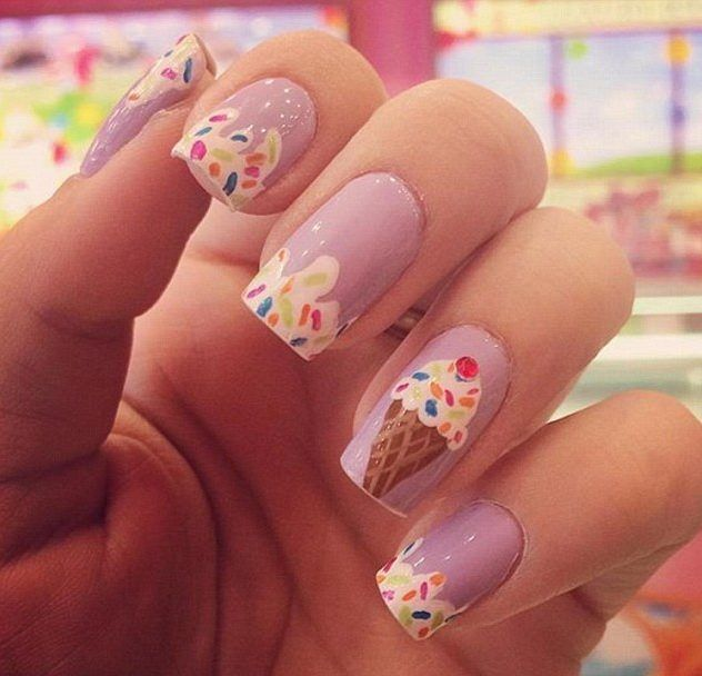31 Ice Cream Designs for Nails > CherryCherryBeauty.com