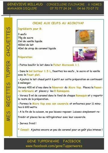 Tupperware - Crèmes aux oeufs au micro vap