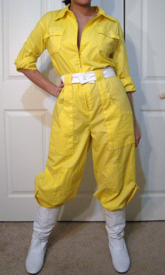 April O'Neil yellow jumpsuit by NeedingAttention on Etsy