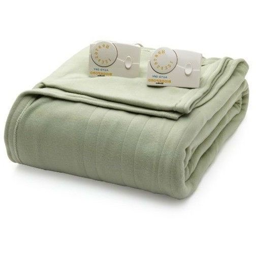 Full size Electric Heated Blanket in Sage Green with Digital Control - Machine Washable