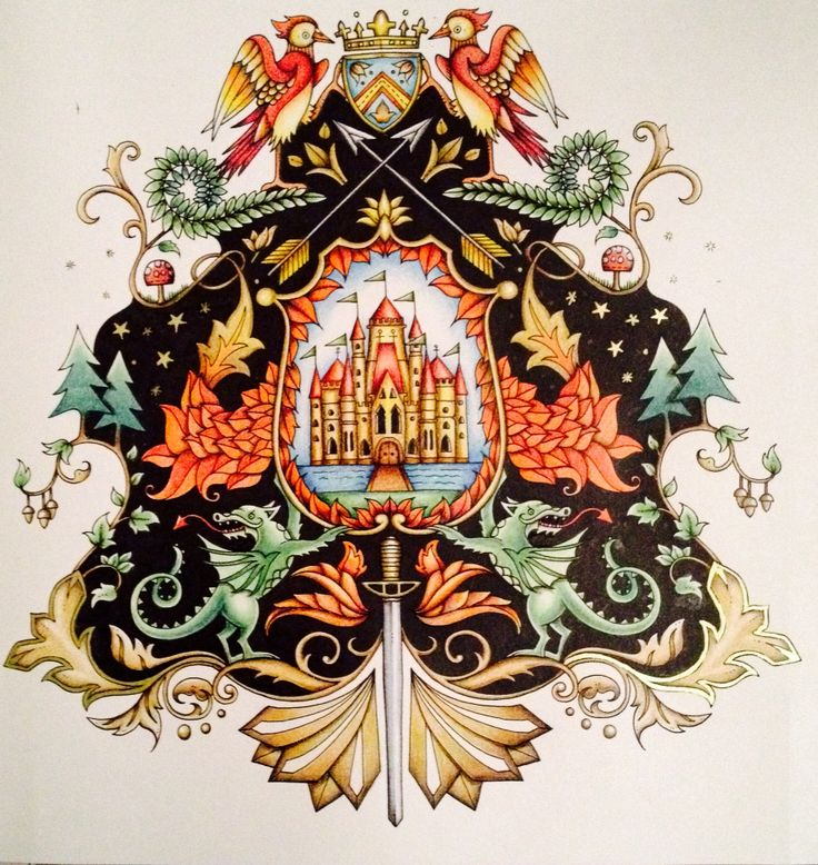 Coat Of Arms Enchanted Forest Find This Pin And More On Coloring Book Completed