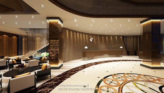 Desain interior lobby hotel By : Ardi Parawarna