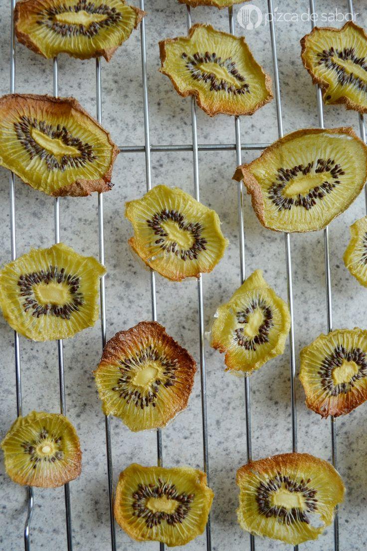 Chips de kiwi deshidratadas (refrigerio & snack saludable) - Pizca de Sabor