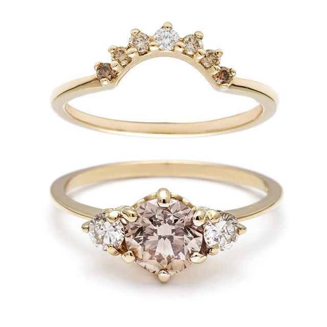 Diamonds in natural ombre hues of champagne to brilliant white, because the earth is magical like that.