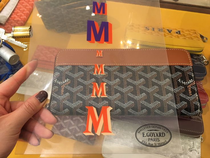 Just ordered my Goyard wallet getting monogrammed from Paris . Love my job & all it pays for...... Classy gal