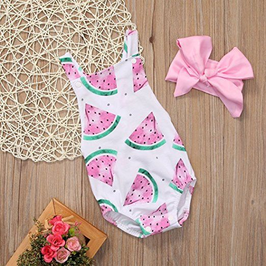 Watermelon Romper | Trendy Cheap Baby Clothes Online