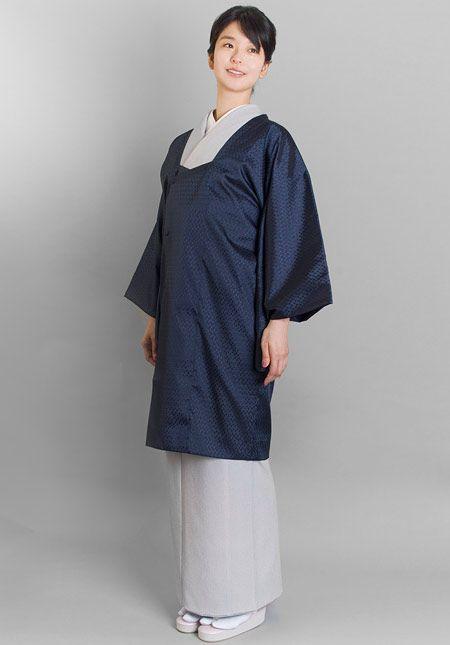 くるり 道行コートneo michi【bijou (ビジュー)】紺青 くるり 着物屋くるり