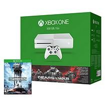 Xbox One 500GB White Console Gears of War: Ultimate Edition Bundle with Star Wars: Battlefront