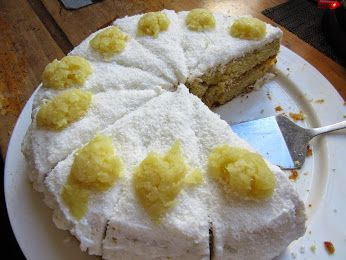 Cake of the Day today is Pineapple, Lime and Coconut - too good!