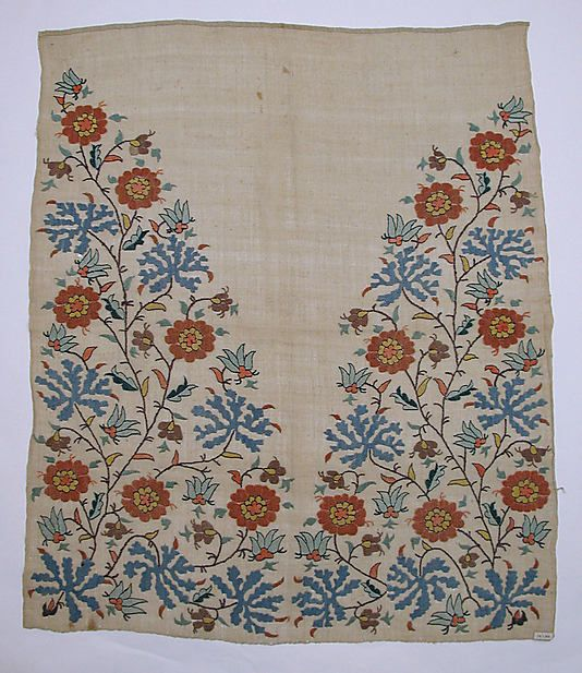 Towel End  Object Name:     Towel end Date:     early 19th century Geography:     Turkey Culture:     Islamic Medium:     Linen, silk; plain weave, embroidered