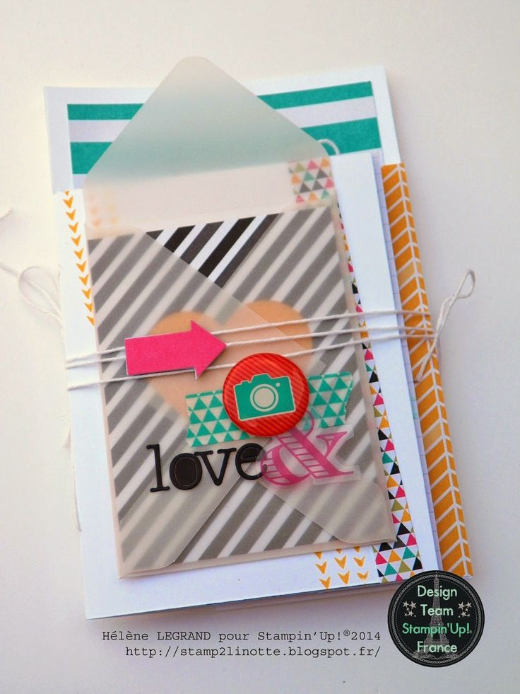 Stamp 2 LiNotte: TUTO : Another mini book using Project Life cards - some great fold ideas and use of the accessory kit. Stampin' Up!