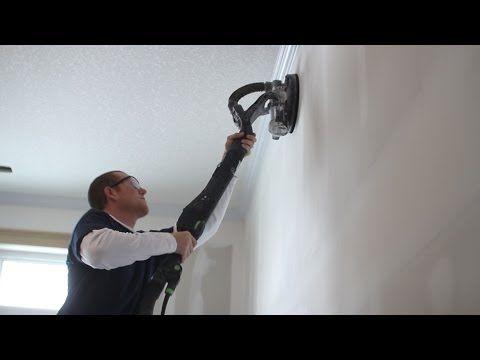 Sanding drywall using the Festool Planex. - YouTube