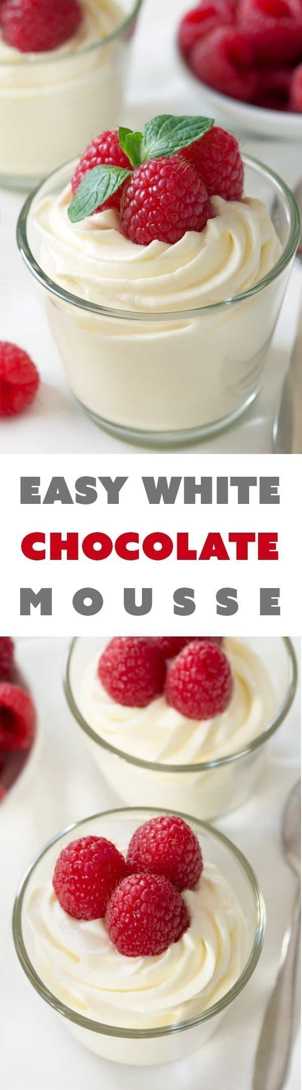 Easy white chocolate mousse made with cream cheese for an amazingly delicious treat that's perfect for any day of the week.