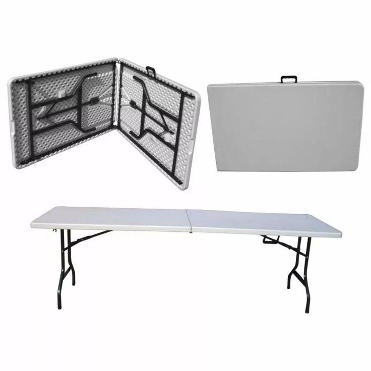 mesa plegable camping de plastico tipo maletin o valija