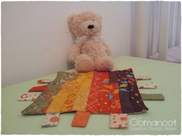 Oomanoot   A Baby Gift that Works Like a Charm (Pack) – Part 2: Tag Blanket Tutorial