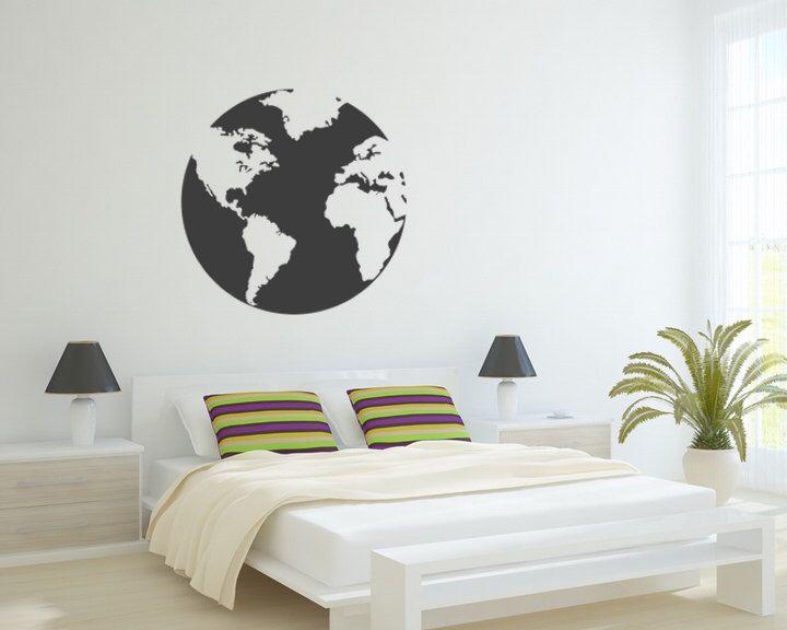 25 beste ideen over world map silhouette op pinterest globe decal vinyl world globe decal world map wall art globe silhouette gumiabroncs Gallery