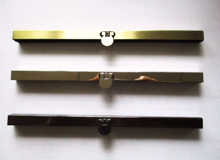 Metal Purse Frame 19cm Bar with Round Flap Flip Lock for clutch purse, bag #Jaszitupleatheraccents