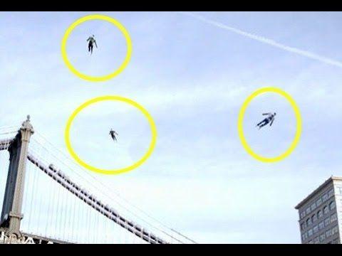 10 اشخاص غير عاديين صورتهم الكامرات وهم يطيرون | Strangest 10 people