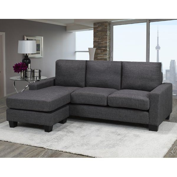 Treyton Reversible Sectional In 2020 Sectional Sofa Grey