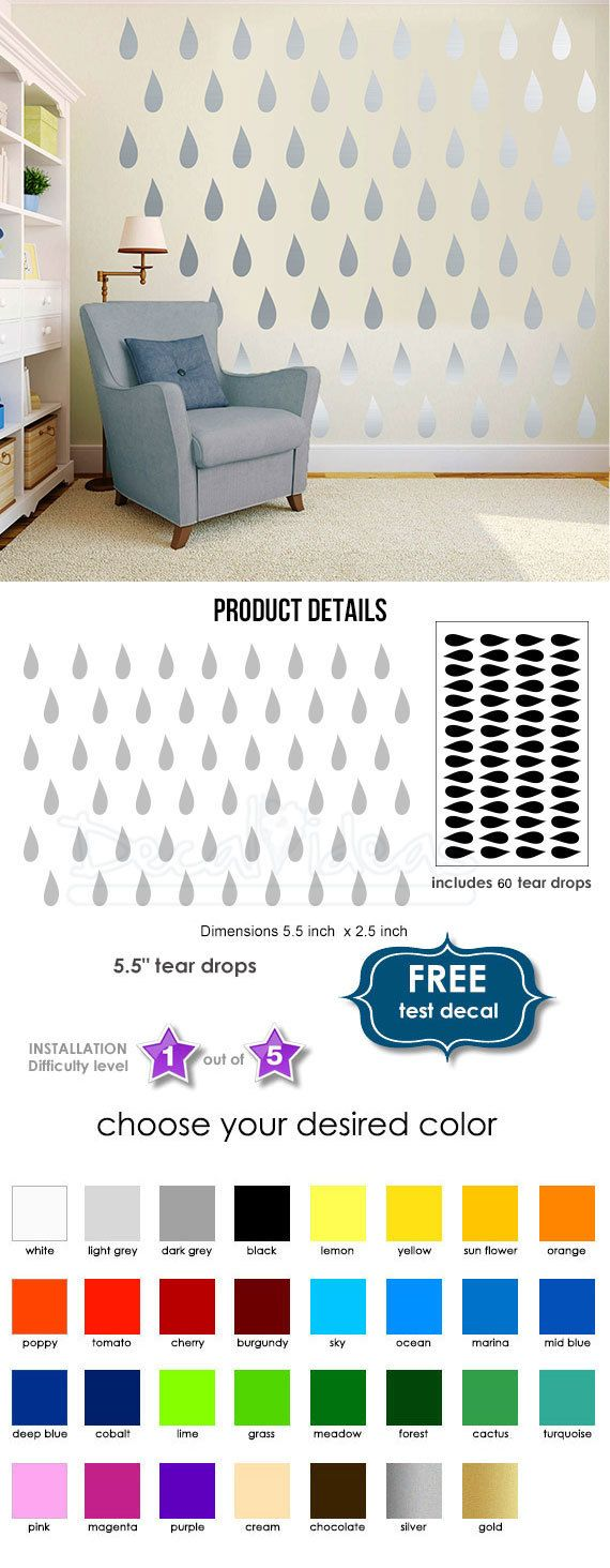 352 best home decor ideas images on pinterest wall decals for drops wall decal modern wall decal baby nursery wall decalset50093