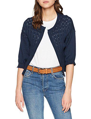 b0df9e37fa26 Noa Organic Cotton Gilet Femme Bleu (Dress Blues 690) 36