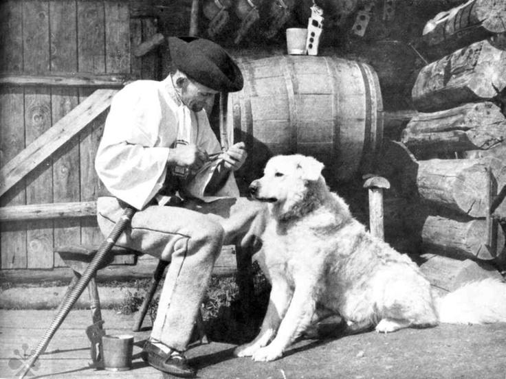 Bača s ovčiarskym psom. Východná, Foto J. Doležal. - 1967.