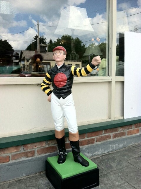 """This is stature Skidmore College gives to winner of their annual horseshow. We call it the """"Bumblebee """""""