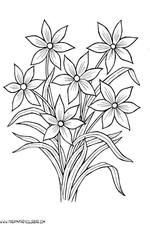flores simples para pintar - Pesquisa Google