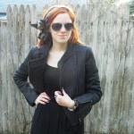@WoreOutVT demonstrates the versatility of the long black dress