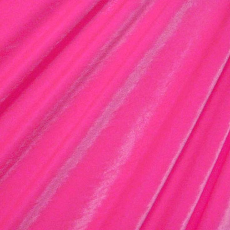 "1/2 yard X 60"" NEON PINK 4 Way Stretch Spandex Velvet  BTY Dance Skate Gowns Holidays by alenamokhan on Etsy https://www.etsy.com/listing/399080809/12-yard-x-60-neon-pink-4-way-stretch"