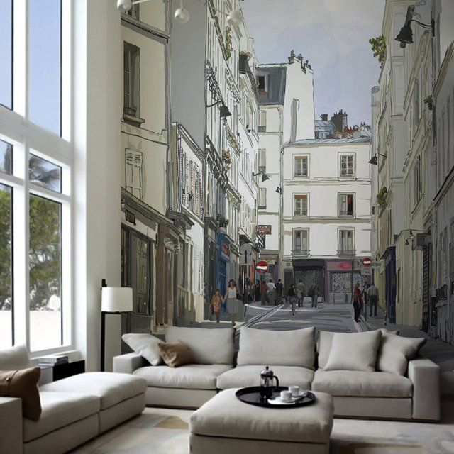 Turn your living room into a Paris locality with this adorable Street Near Montmartre Paris Wall Mural.